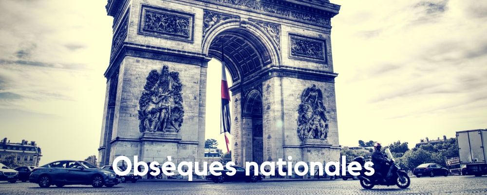 Funérailles nationales, Deuil national et hommage national